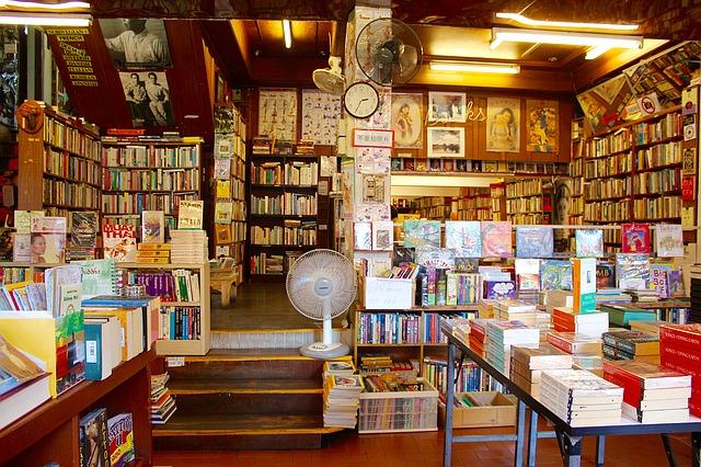 schody v knihkupectví