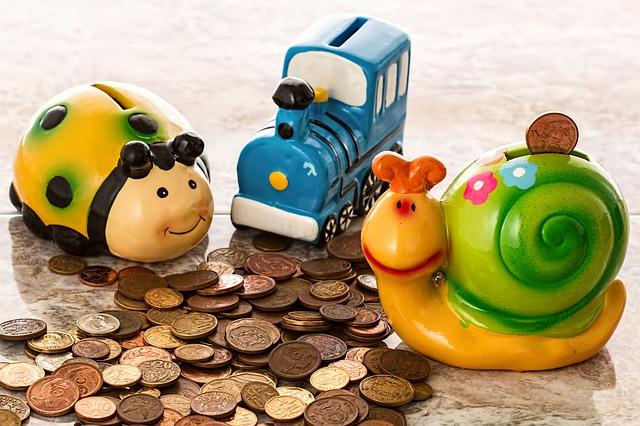 dětská pokladnička na úspory